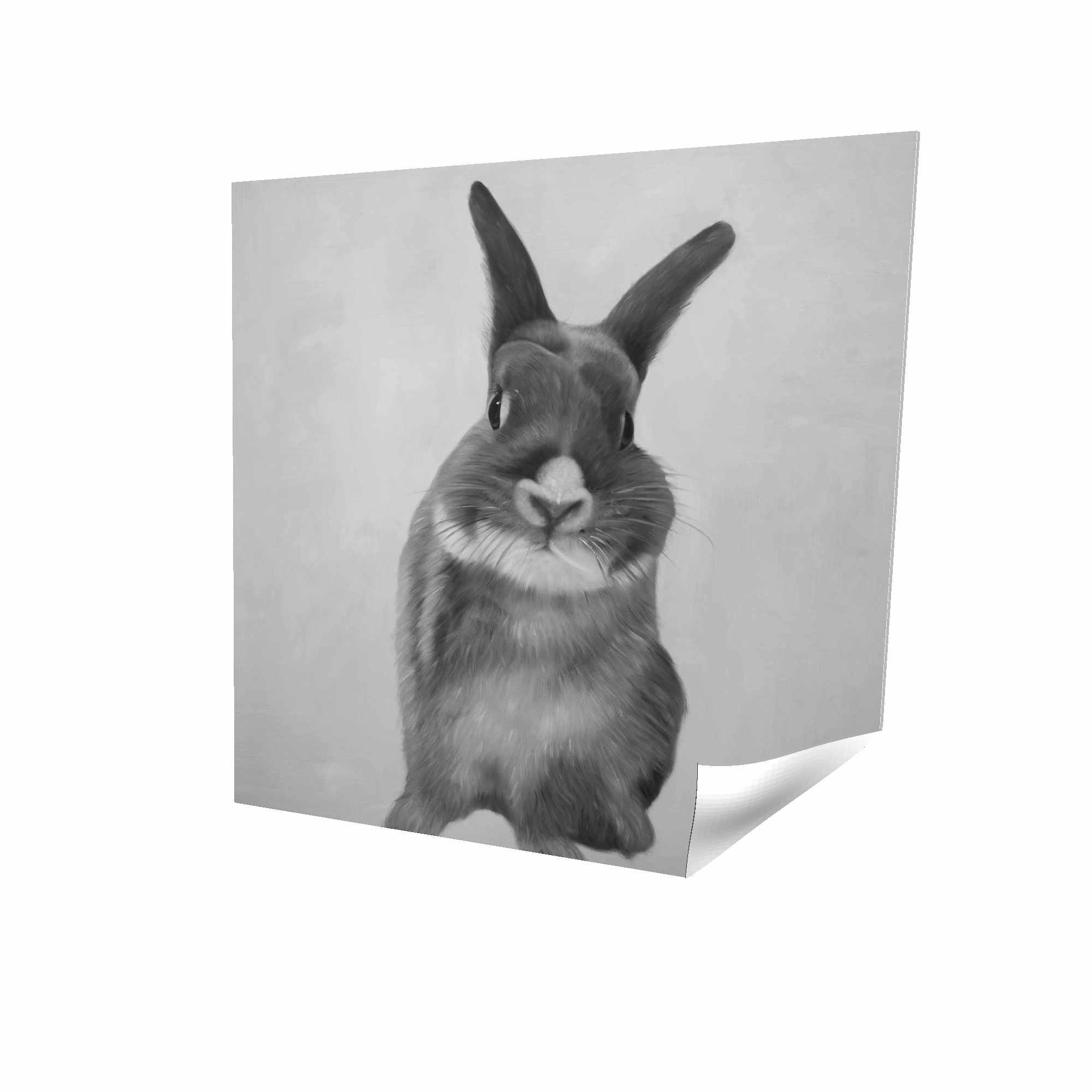 Funny gray rabbit