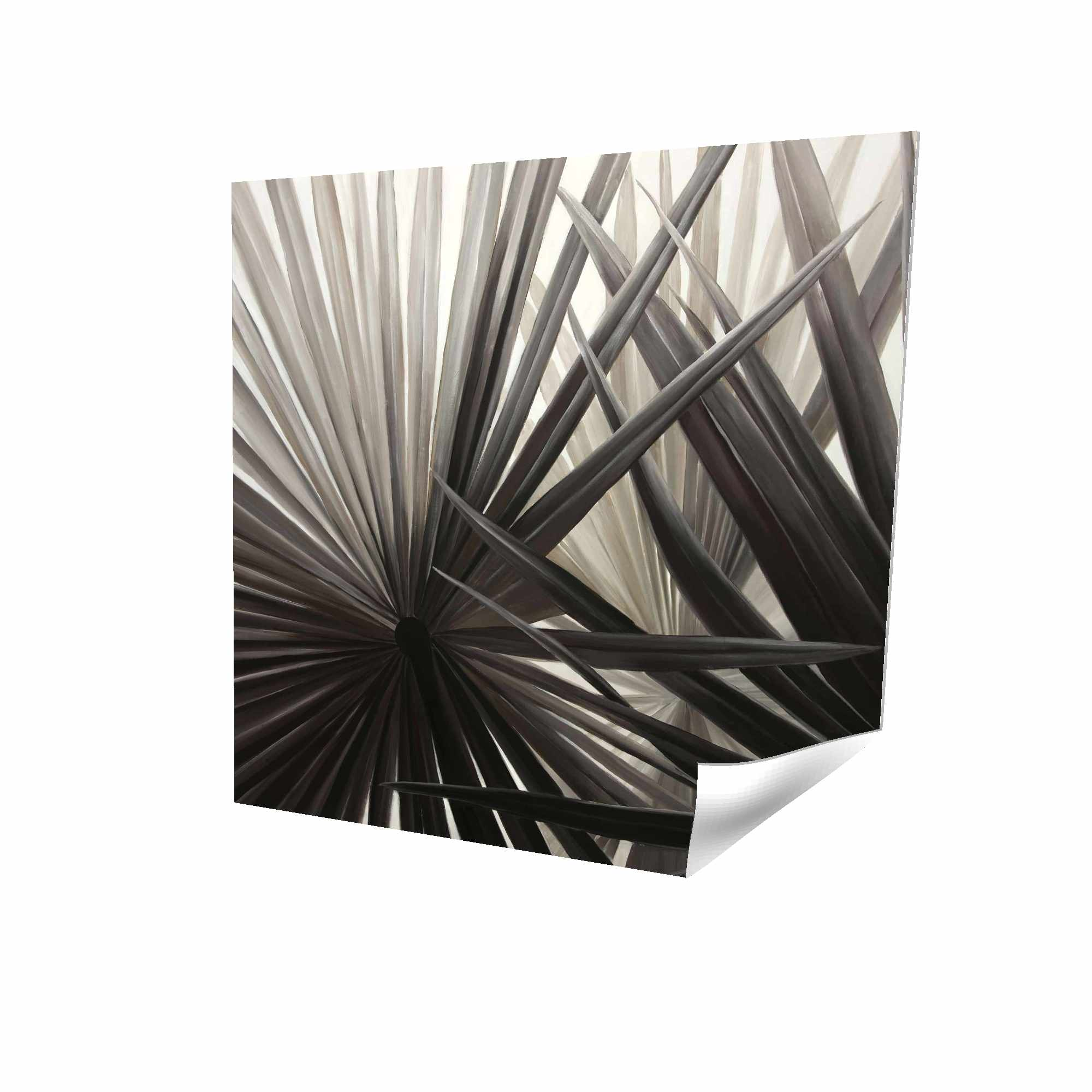 Poster 16 x 16 - 3D - Sepia tropical plants