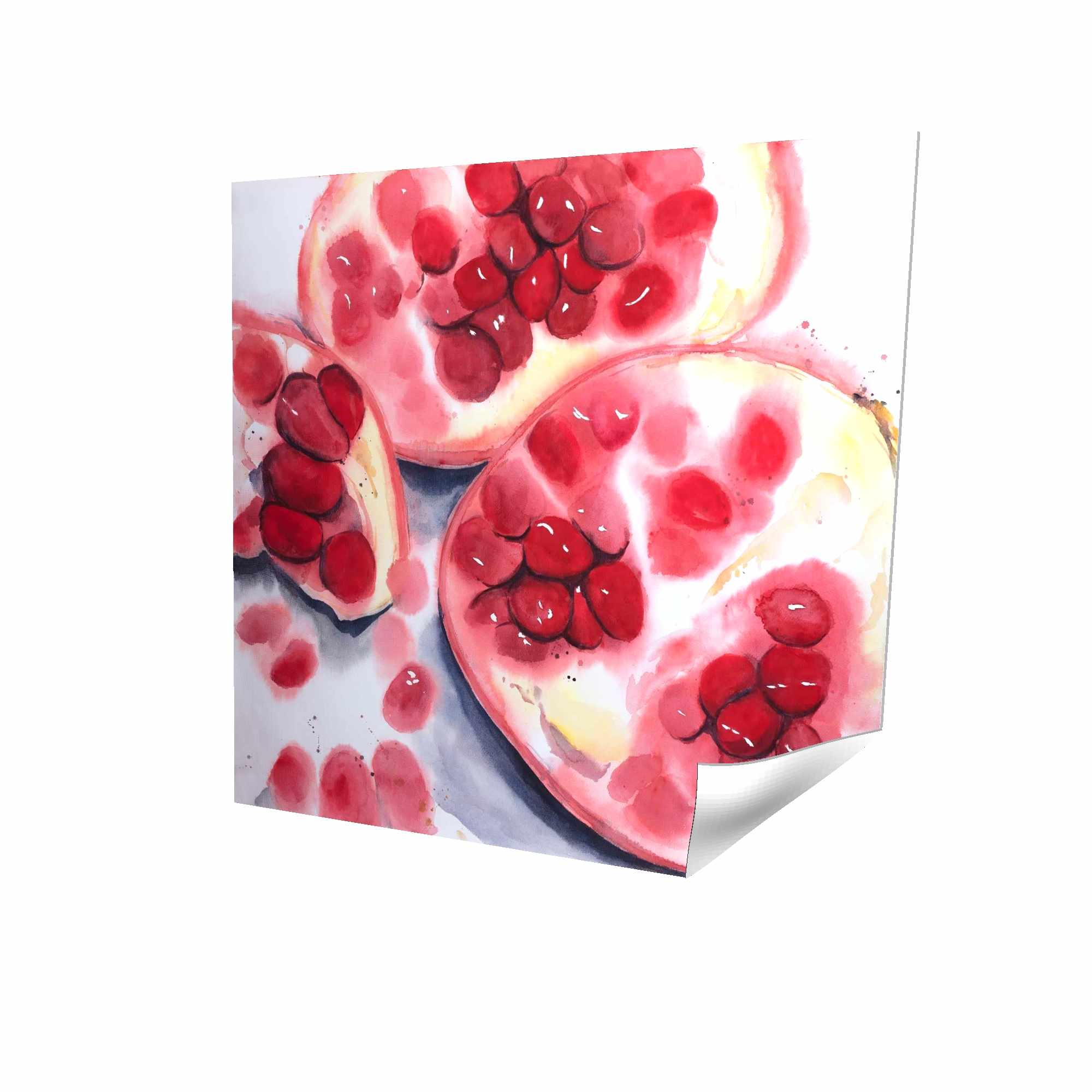 Poster 16 x 16 - 3D - Pomegranate pieces