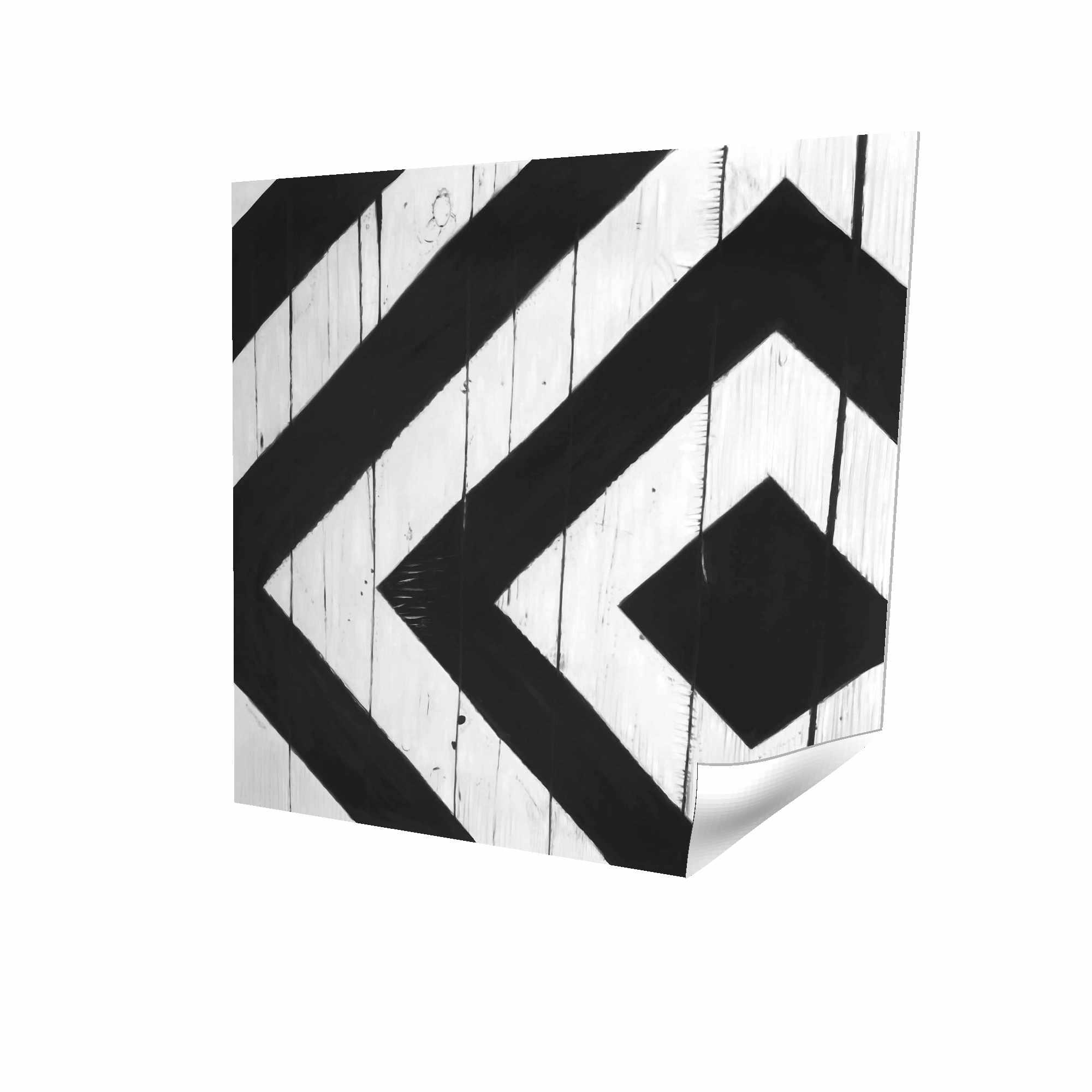 Rhombus on wood