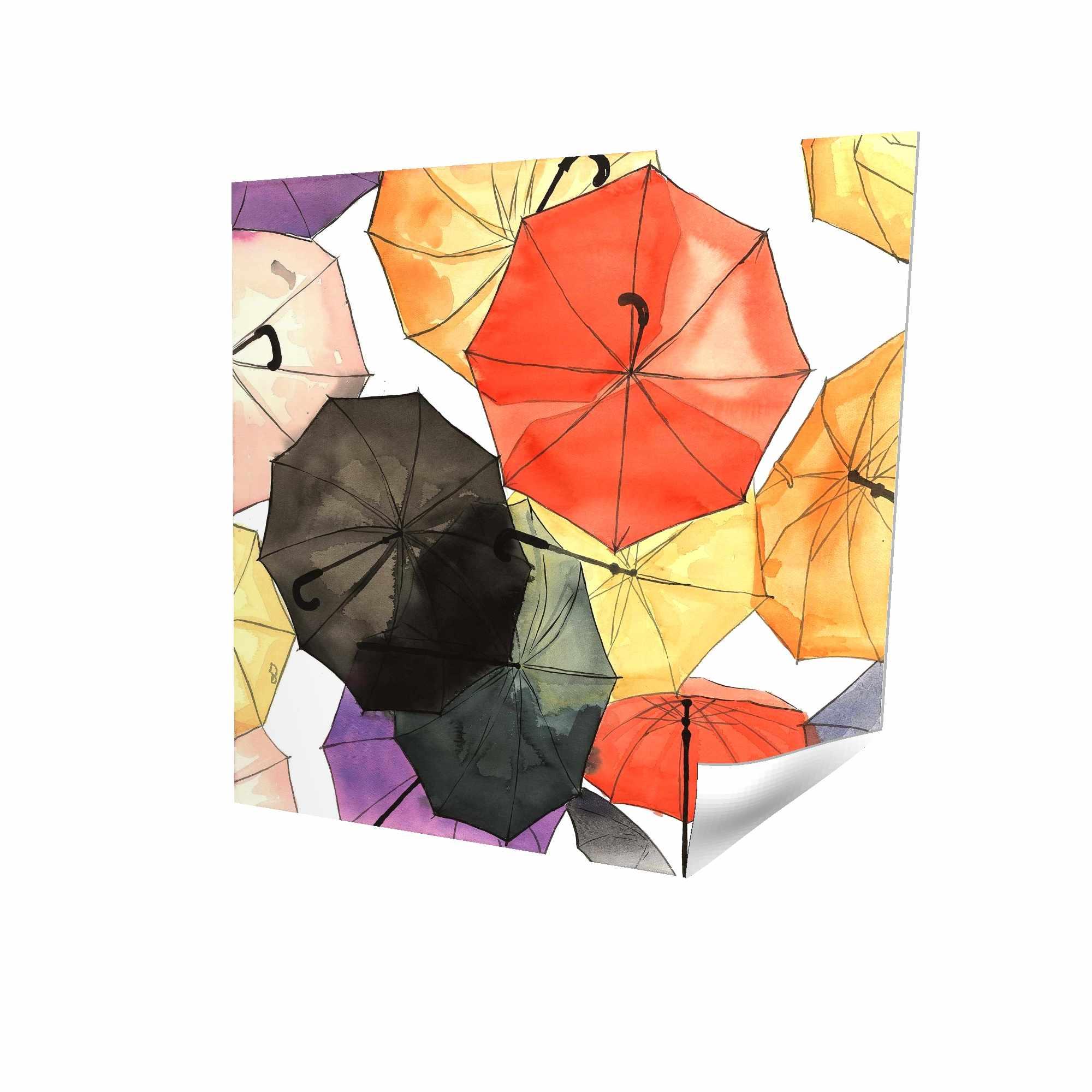 Suspended umbrellas