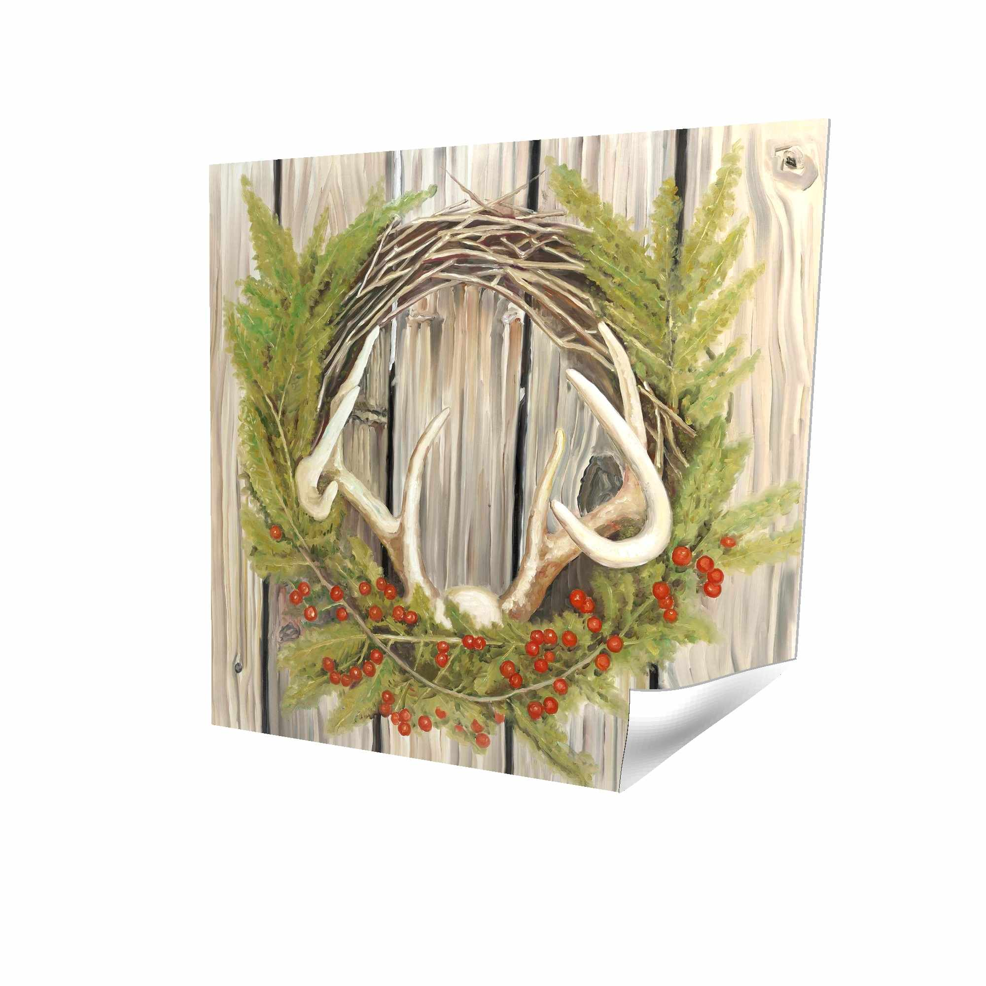 Poster 16 x 16 - 3D - Christmas wreath with panache