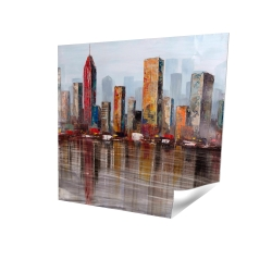 Poster 16 x 16 - 3D - Rust looking city
