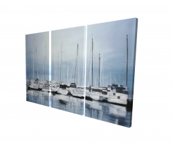 Canvas 24 x 36 - 3D - Boats at the dock 2