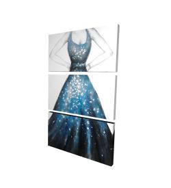 Canvas 24 x 36 - 3D - Blue princess dress