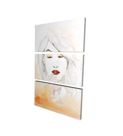 Canvas 24 x 36 - 3D - Portrait in watercolor
