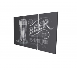 Canvas 24 x 36 - 3D - Vintage beer signboard