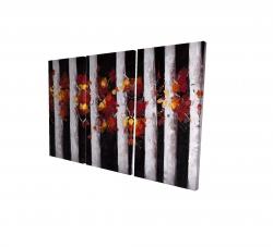 Toile 24 x 36 - 3D - Arbres et feuilles d'automne