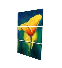 Canvas 24 x 36 - 3D - Superb contrast flowers