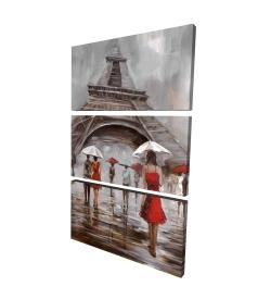 Canvas 24 x 36 - 3D - Near the eiffel tower