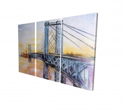 Canvas 24 x 36 - 3D - Abstract brooklyn bridge