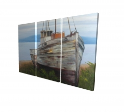 Canvas 24 x 36 - 3D - Old abandoned boat
