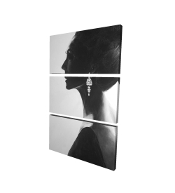 Canvas 24 x 36 - 3D - Chic woman