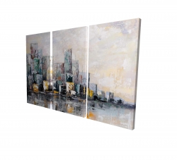 Canvas 24 x 36 - 3D - Abstract cityscape in the morning