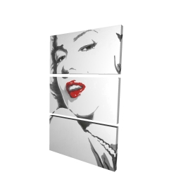 Canvas 24 x 36 - 3D - Marilyn monroe outline style