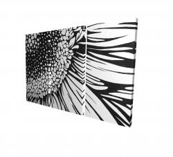 Canvas 24 x 36 - 3D - Gerbera flower