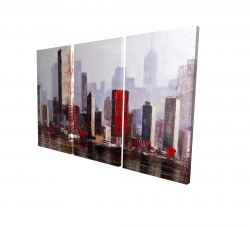 Canvas 24 x 36 - 3D - Industrial city style