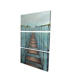 Toile 24 x 36 - 3D - Pont vieux et dangereux