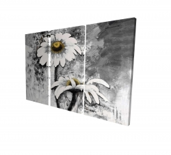 Canvas 24 x 36 - 3D - Abstract daisies flowers