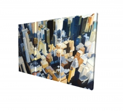 Canvas 24 x 36 - 3D - Manhattan view of the empire state building
