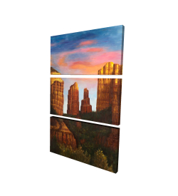 Canvas 24 x 36 - 3D - Cathedral rock in arizona
