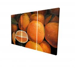 Canvas 24 x 36 - 3D - Fresh oranges