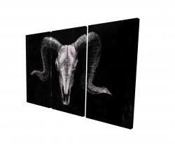 Canvas 24 x 36 - 3D - Ram skull grunge style