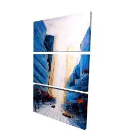 Canvas 24 x 36 - 3D - Blue asymmetrical street