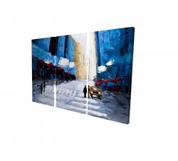 Canvas 24 x 36 - 3D - Blue buildings