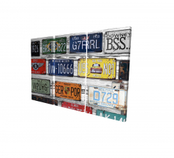 Canvas 24 x 36 - 3D - Number plates