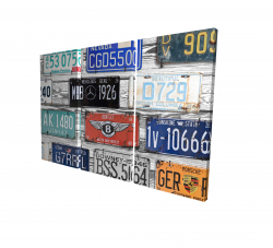 Canvas 24 x 36 - 3D - Vintage plates registration