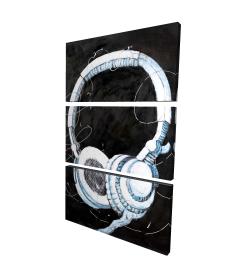 Toile 24 x 36 - 3D - écouteur