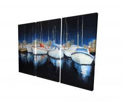 Canvas 24 x 36 - 3D - Evening at the marina