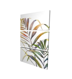 Canvas 24 x 36 - 3D - Watercolor tropical palm leaves