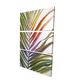 Toile 24 x 36 - 3D - Feuille de palmier tropical