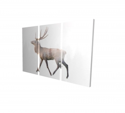 Canvas 24 x 36 - 3D - Deer and forest