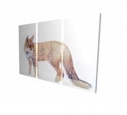 Canvas 24 x 36 - 3D - Forest and fox