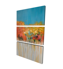 Canvas 24 x 36 - 3D - Colorful abstract small flowers