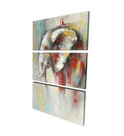 Canvas 24 x 36 - 3D - Abstract paint splash elephant