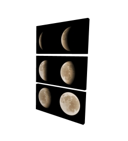 Toile 40 x 60 - 3D - éclipse en six phases