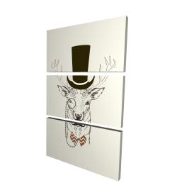 Canvas 24 x 36 - 3D - Aristocrat roe deer