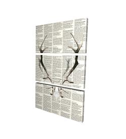Bois de cerf sur papier journal