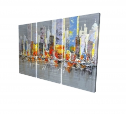 Canvas 40 x 60 - 3D - Color splash cityscape