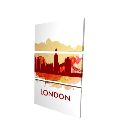 Canvas 24 x 36 - 3D - Paint splash silhouette of london