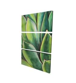 Canvas 24 x 36 - 3D - Watercolor agave plant