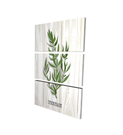 Canvas 24 x 36 - 3D - Tarragon on wood