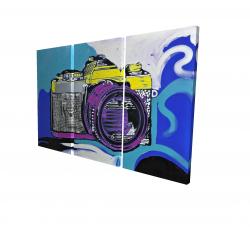 Canvas 24 x 36 - 3D - Retro camera