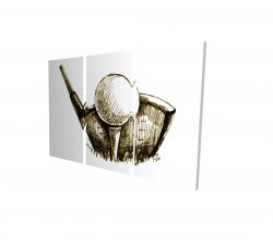 Canvas 24 x 36 - 3D - Illustration of a golf ball