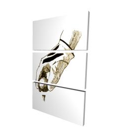 Canvas 24 x 36 - 3D - Illustration of a golf glove