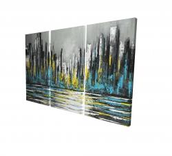 Canvas 24 x 36 - 3D - Abstract blue skyline
